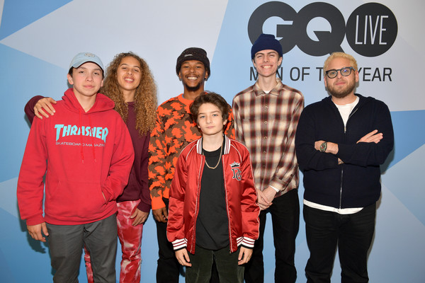GQ Live - The World Of Jonah Hill With The Cast Of 'Mid90s' [the world of jonah hill,social group,team,youth,event,community,premiere,performance,gio galicia,jonah hill,lucas hedges,sunny suljic,na-kel smith,olan prenatt,gq live,cast,neuehouse los angeles]