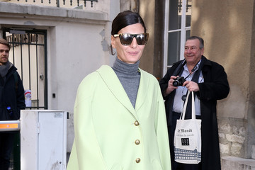 Giovanna Battaglia Arrivals at the Moncler Gamme Rouge Show