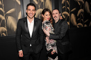 """(L to R) Miguel Angel Silvestre, Blanca Suarez and Carlos Areces attend Girard-Perregaux And The Cinema Society With DeLeon Host a Screening Of Sony Pictures Classics' """"I'm So Excited""""  after-party at No. 8 on June 6, 2013 in New York City."""