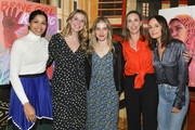 "(L-R) Freida Pinto, Taylor DeBolt, Jeni Yaghoubi, and Martha Adams attend Girl Rising and International Rescue Committee's special screening of Documentary Film ""Brave Girl Rising"" for International Women's Day at West Hollywood City Council Chamber on March 08, 2019 in West Hollywood, California."