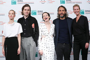 "Sylvia Hoeks, Sverrir Gudnason, Claire Foy, Fede Alvarez and Synnove Macody Lund attend ""The Girl In The Spider's Web"" photocall during the 13th Rome Film Fest at Auditorium Parco Della Musica on October 24, 2018 in Rome, Italy."