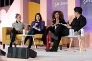 Bumble Founder & CEO Whitney Wolfe, Man Repeller Founder Leandra Medine, Teen Vogue Editor-in-Chief Elaine Welteroth, and Beautycon Media CEO Moj Mahdara speak onstage at Girlboss Rally Hosted By Sophia Amoruso's Girlboss on November 11, 2017 in New York City.