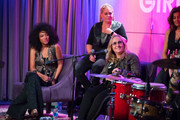 Judith Hill, Cathy Henderson, Melissa Etheridge and Nini Camps speak onstage during Girls Rising Panel & Performance at GRAMMY Museum on October 22, 2019 in Los Angeles, California.