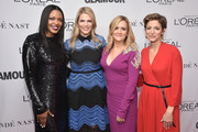 (L-R) Anne Marie Nelson-Bogle, Alison Moore, Samantha Bee, and Cindi Leive attend Glamour's 2017 Women of The Year Awards at Kings Theatre on November 13, 2017 in Brooklyn, New York.