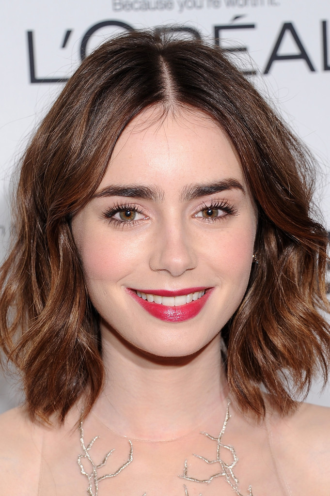 Lily Collins Photos Photos Stars At The Glamour Honors