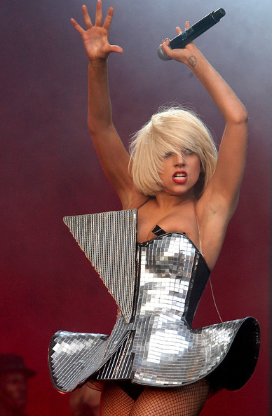 Glastonbury Festival 2009 - Day 2. In This Photo: Lady Gaga