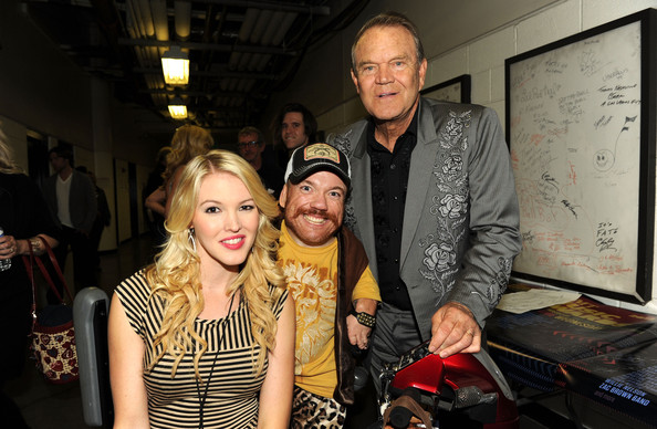 2012 CMT Music Awards - Audience And Backstage [fashion,yellow,event,photography,design,fashion design,party,art,leisure,flash photography,cmt music awards,backstage,nashville,tennessee,bridgestone arena,audience,ashley campbell,glen campbell,fred gill]