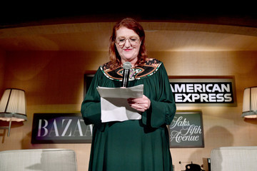 Glenda Bailey Saks Fifth Avenue And American Express Host Jane Fonda For Harper's Bazaar 'Dare I Say' Live Podcast