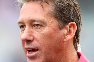 Glenn McGrath Australia v England - Fifth Test: Day 1