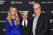 (L-R) Petra Nemcova, Frank Giustra, and Howard Sherman attend Global Citizen - Movement Makers at The Times Center on September 25, 2018 in New York City.