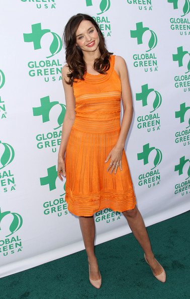 Model Miranda Kerr attends Global Green USA's 15th Annual Millennium Awards at the Fairmont Miramar Hotel and Bungalows on June 4, 2011 in Santa Monica, California.