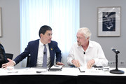 (L-R) International Rescue Committee CEO David Miliband and Virgin Founder Sir Richard Branson speak at the Business Refugee Action Network event in the margins of the United Nations General Assembly on September 24, 2019 in New York City. At the event, more than a dozen CEOs signed up to support refugees and to call on governments to include them in progress towards the Sustainable Development Goals.