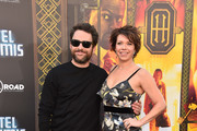 "Actors Charlie Day and Mary Elizabeth Ellis attend the premiere of Global Road Entertainment's ""Hotel Artemis"" at Regency Village Theatre on May 19, 2018 in Westwood, California."