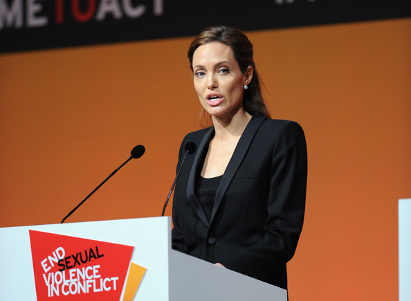 ... Jolie Pictures Global Summit to End Sexual Violence in Conflict: http://www.zimbio.com/pictures/_wGFiiQ-6jq/Global+Summit+End+Sexual+Violence+Conflict/EMMC6poJwbC/Angelina+Jolie