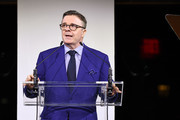 Nathan Lane speaks onstage at God's Love We Deliver, Golden Heart Awards at Spring Studios on October 16, 2018 in New York City.