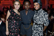 Cleo Wade, Lupita Nyong'o and Halima Aden attend God's Love We Deliver, Golden Heart Awards on October 21, 2019 in New York City.