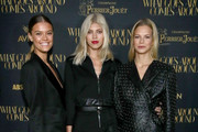 Nina Agdal, Devon Windsor, and Nadine Leopold attend the What Goes Around Comes Around Madison Avenue Flagship Opening Celebration with Pernod Ricard on February 08, 2019 in New York City.