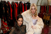 Elsa Hosk and Lais Ribeiro attend the What Goes Around Comes Around Madison Avenue Flagship Opening Celebration with Pernod Ricard on February 08, 2019 in New York City.
