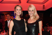 Monica Ivancan and Natascha Gruen attend the Golden Racket Charity 2015 fala evening at Hotel Vierjahreszeiten on October 17, 2015 in Munich, Germany.