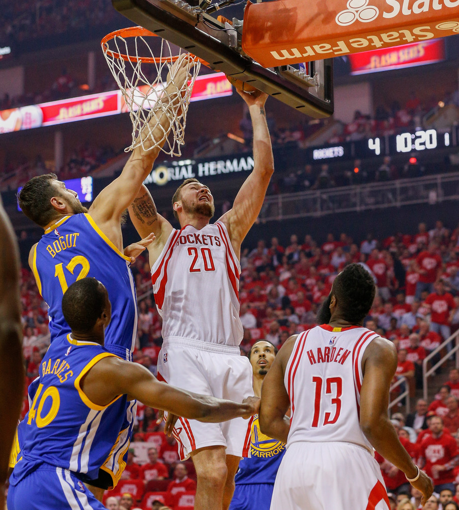 Rockets And The Warriors Game: Andrew Bogut Photos Photos
