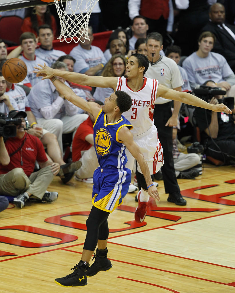 Rockets And The Warriors Game: Nick Johnson Photos Photos