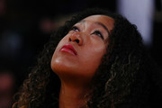 Naomi Osaka attends the game between the Golden State Warriors and the Los Angeles Lakers at Staples Center on April 04, 2019 in Los Angeles, California. NOTE TO USER: User expressly acknowledges and agrees that, by downloading and or using this photograph, User is consenting to the terms and conditions of the Getty Images License Agreement.