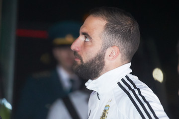 Gonzalo Higuain Argentina Team Arrives In Moscow - 2018 FIFA World Cup