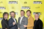 "(L-R) Writer and executive producer Neil Gaiman, actors Michael Sheen, Jon Hamm and David Tennant and director Douglas Mackinnon attend the Good ""Omens: The Nice and Accurate"" SXSW Event during the 2019 SXSW Conference and Festivals at ZACH Theatre on March 09, 2019 in Austin, Texas."