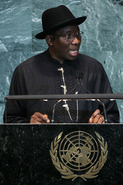 Goodluck Jonathan Goodluck Jonathan, President and Commander-in-Chief of the Armed Forces of the Federal Republic of Nigeria  addresses the 65th session of the General Assembly at the United Nations on September 24, 2010 in New York City. Leaders and diplomats from around the world are in New York City for the United Nations yearly General Assembly.