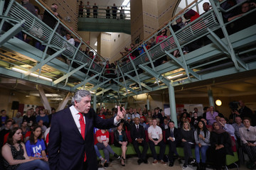 Gordon Brown Gordon Brown Launches Labour's 'Leading Not Leaving' Campaign To Remain In The EU