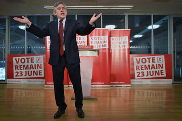 Gordon Brown Gordon Brown Makes the Case for Remaining in the European Union