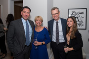 Gordon Hoppe, Elaine Dean and Ryan Fitzpatrick and Jackie Pesce attend Gotham Magazine's and The Corcoran Group Celebration of Assouline's Gatekeeper: World Of Folly with Author Hunt Slonem on November 15, 2018 in New York City.