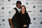 Actor Taye Diggs and Samantha Yanks attend the Gotham Men's Issue Celebration at the BMW of Manhattan Showroom on November 16, 2017 in New York City.