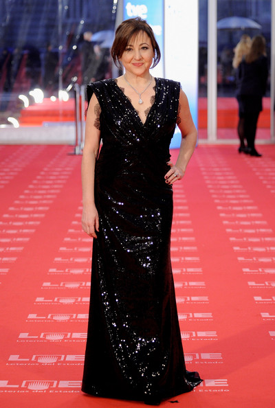 "Spanish actress Carmen Machi arrives to the 2011 edition of the ""Goya Cinema Awards"" ceremony at Teatro Real on February 13, 2011 in Madrid, Spain."