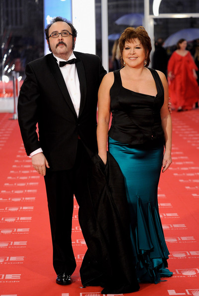 "Actor Carlos Areces and actress Loles Leon arrive to the 2011 edition of the ""Goya Cinema Awards"" ceremony at Teatro Real on February 13, 2011 in Madrid, Spain."