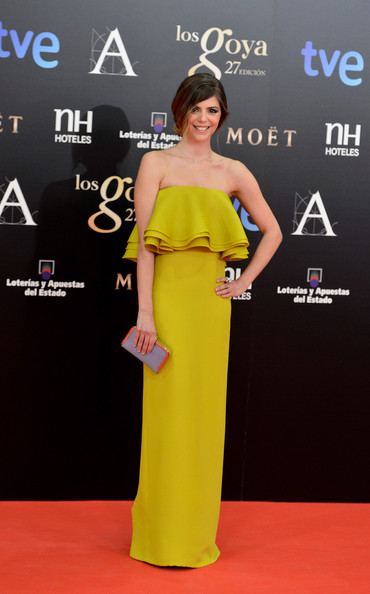 Manuela Velasco attends Goya Cinema Awards 2013 at Centro de Congresos Principe Felipe on February 17, 2013 in Madrid, Spain.
