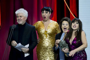 Pedro Almodovar, Rossy de Palma, Julieta Serrano and Loles León attend the 33rd edition of the 'Goya Cinema Awards' ceremony at  Palacio de Congresos y Exposiciones FIBES on February 02, 2019 in Seville, Spain.