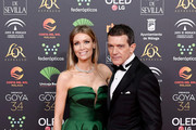 Nicole Kimpel and Antonio Banderas attend the Goya Cinema Awards 2020 during the 34th edition of the Goya Cinema Awards at Jose Maria Martin Carpena Sports Palace on January 25, 2020 in Malaga, Spain.