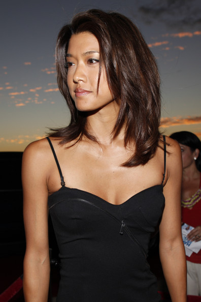 Grace Park Actress Grace Park arrives at Sunset on the Beach on ...