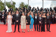 "(L-R) Jury members Carole Bouquet, Nicolas Winding Refn, Leila Hatami, Sofia Coppola, Jury President Jane Campion, jury members Gael Garcia Bernal, Zhangke Jia and Do-yeon Jeon and Willem Dafoe attend the Opening ceremony and the ""Grace of Monaco"" Premiere during the 67th Annual Cannes Film Festival on May 14, 2014 in Cannes, France."