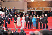 "Jury member Carole Bouquet, Jury member Nicolas Winding Refn, Jury member Leila Hatam, Jury member Sofia Coppola, Jury President Sofia Coppola, Jury member Gael Garcia Bernal, Jury member Zhangke Jia, Jury member Do-yeon Jeon and Jury member Willem Dafoe attend the Opening ceremony and the ""Grace of Monaco"" Premiere during the 67th Annual Cannes Film Festival on May 14, 2014 in Cannes, France."