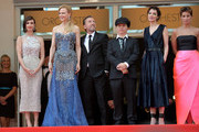 """(L-R) Actresses Paz Vega, Nicole Kidman, actor Tim Roth, director Olivier Dahan, Jeanne Balibar and Geraldine Somerville attend the Opening ceremony and the """"Grace of Monaco"""" Premiere during the 67th Annual Cannes Film Festival on May 14, 2014 in Cannes, France."""
