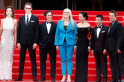 "(R-L) Jury members Carole Bouquet, Nicolas Winding Refn, Gael Garcia Bernal, Jury President Jane Campion, jury members Do-yeon Jeon, Zhangke Jia and Willem Dafoe attend the Opening Ceremony and the ""Grace of Monaco"" premiere during the 67th Annual Cannes Film Festival on May 14, 2014 in Cannes, France."