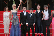 """(L-R) Actresses Paz Vega, Nicole Kidman, actor Tim Roth, director Olivier Dahan, Jeanne Balibar, Pierre Ange Le Pogam and Geraldine Somerville attend the Opening ceremony and the """"Grace of Monaco"""" Premiere during the 67th Annual Cannes Film Festival on May 14, 2014 in Cannes, France."""
