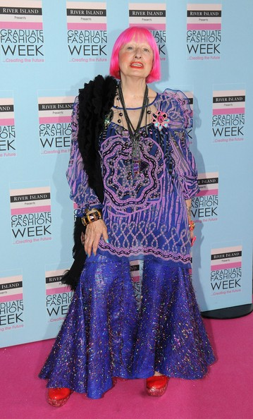 Zandra Rhodes attends the Graduate Fashion Week Gala Show at Earls Court on June 9, 2010 in London, England.