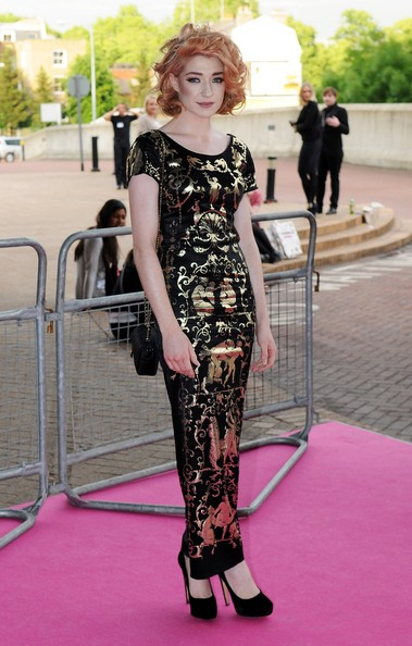 Nicola Roberts attends the Graduate Fashion Week Gala Show at Earls Court on June 9, 2010 in London, England.