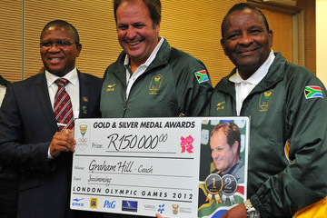 Graham Hill South Africa Olympic Team Arrive Back In South Africa