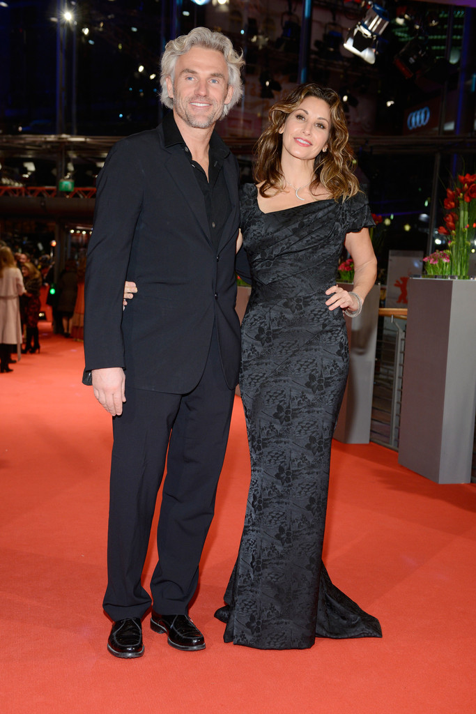 Rumored couple Robert Dekeyser and Gina Gershon at the The Grand Budapest Hotel' Premieres in Berlin