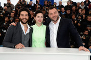 (L-R) Actor Tahar Rahim, Director Rebecca Zlotowski and actor Denis Menochet attend the 'Grand Central' Photocall during The 66th Annual Cannes Film Festival at Palais des Festivals on May 18, 2013 in Cannes, France.