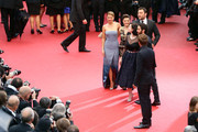 (L-R) Actress Lea Seydoux, actress Camille Lellouch, director Rebecca Zlotowski, actor Denis Menochet and actor Tahar Rahim attend 'Grand Central' Premiere during the 66th Annual Cannes Film Festival at Palais des Festivals on May 18, 2013 in Cannes, France.